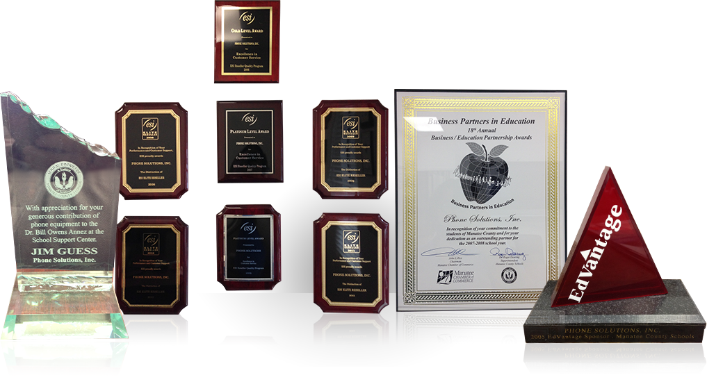 Phone Solutions has many awards and distincions for excellence in service.